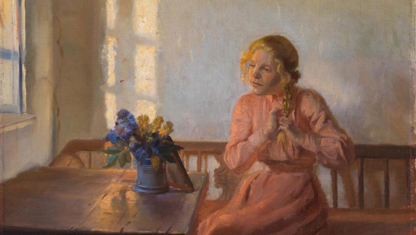 A crop of one of Anna Ancher's paintings