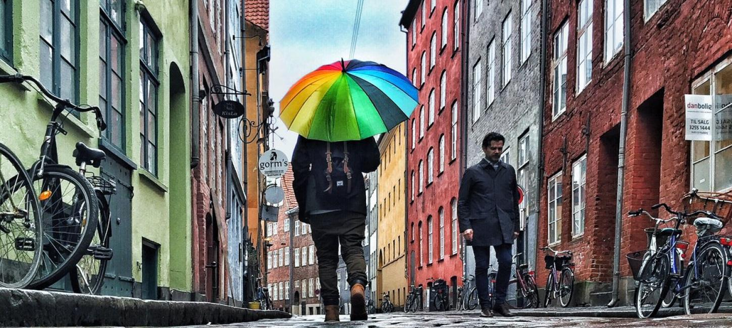 Rainy day in Magstræde, Copenhagen