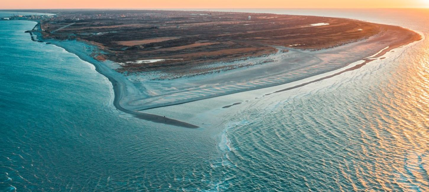Drone photo of Grenen, Skagen