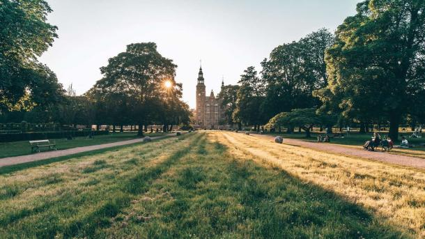 Rosenborg castle in the King's Garden, Copenhagen