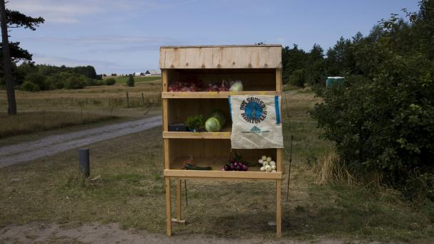 Roadside stall on Samsø