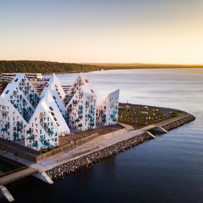 The Iceberg buildings in Aarhus