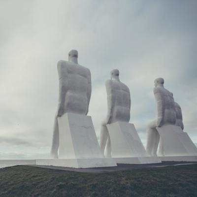 The sculpture Men by the Sea in Esbjerg