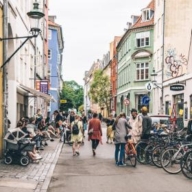 Shopping in the Latin Quarter in Copenhagen