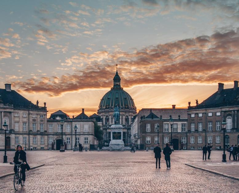 Amalienborg Palace, the Queen's residence in Copenhagen