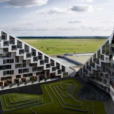 A view of 8TALLET  Bjarke Ingels Group in Copenhagen, Denmark