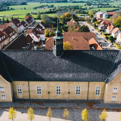 UNESCO world culture heritage site Christiansfeld in Denmark