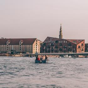 Goboat cruising around in Copenhagen's harbour
